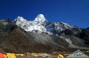 Ama dablam base camp altitude is the highest point of Ama dablam trekking Nepal
