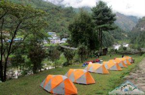 Everest region camping trekking in Nepal