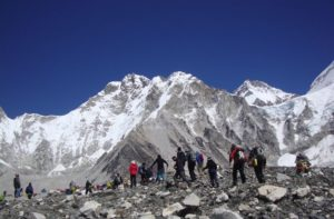 Mount Everest base camp Nepal Himalayas