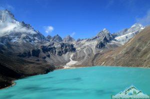 Gokyo Lake trek in Gokyo valley in Everest region Nepal