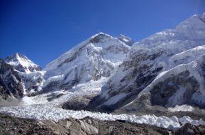 Khumbu Glacier in Khumjung, Nepal