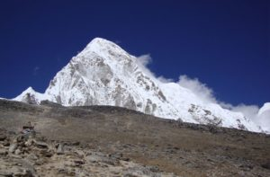 Mount Pumori and Kala Patthar Mountains In Himalayas, Nepal