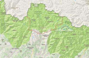 Sagarmatha National Park Map