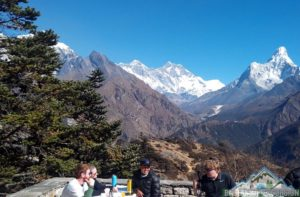 Professional guide show the way to Everest base camp trek in April, temperature, weather & climate are fine in spring season.