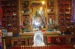 Statue Of Buddha Inside Monastery in Namche Bazaar
