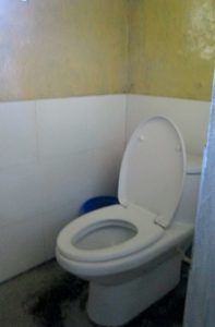 Picture of available toilet on the route of Everest base camp trek in Nepal