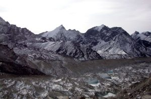 Winter Everest base camp trek in January - hiking Mount Everest
