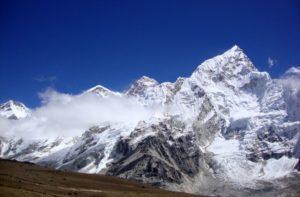 Climbing Kala Patthar at sunset on Everest Base Camp Trek