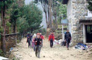 Day 1 Lukla to Phakding Walking holidays Nepal