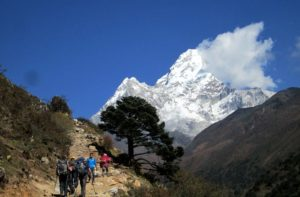 Day 5 of Everest base camp trek on Tengboche to Dingboche trail