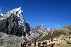 Weather and Elevation of Dingboche to Everest base camp via Lobuche Nepal