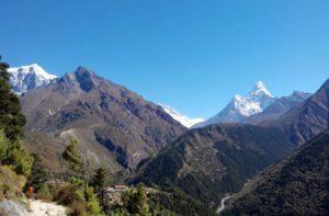 Luxury Everest Summit Lodges and phortse village Everest region Nepal