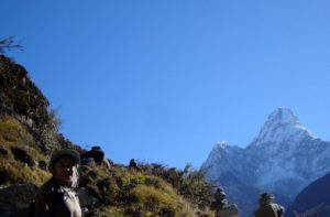 Everest base camp trek Via Phortse village khumbu Nepal