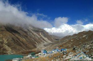 Photo of Gokyo village, Lake & Mount Cho Oyu in background a part of Everest region trekking in Nepal