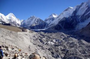 Gorak Shep to Everest Base Camp walking trail
