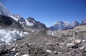 Khumbu glacier The most famous himalayan glacier Nepal