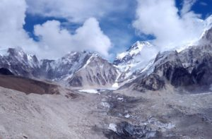 Khumbu glacier facts - it is the world's highest glacier, situated at the height of 8000 metres above the sea level