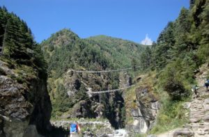 Larja Dobhan 2 Suspension Bridges Over Dudh Koshi River