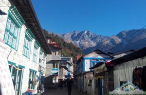 Lukla Village Nepal is an entrance to Mount Everest, hotels and lodges on lukla town photo