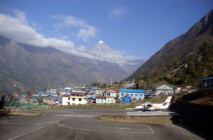 Panoramic View Lukla Town Nepal