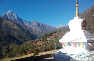 Chheplung village on Lukla to Phakding trail is the first day part of Everest trek in Nepal