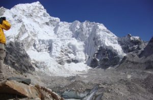 Mount Everest Avalanche disaster during Everest base camp trek Nepal