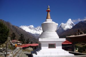 Namche bazaar to Everest base camp distance 25.7 km