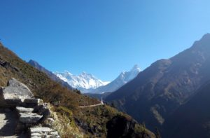 Namche bazaar to Everest base camp trek
