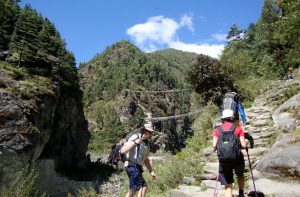 Namche bazaar to Lukla distance and map