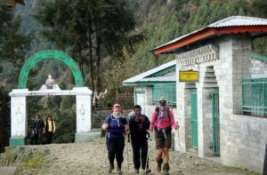 Pasang Lhamu memorial gate, Lukla village on the way to Everest base camp trek