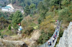 Phakding to Lukla trek back from Everest base camp