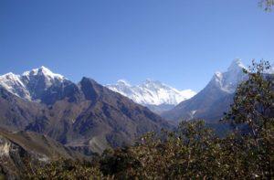 Phortse travel guide - Phortse Village With Mount Everest