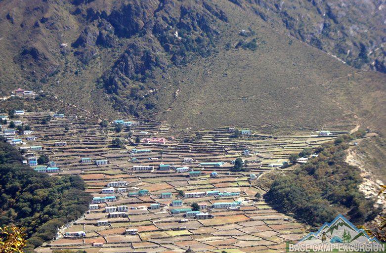 Phortse village with Namche to Phortse distance, weather & elevation