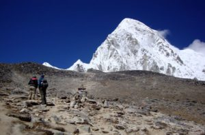 Pumori And Kala Patthar Mountains in Himalayas