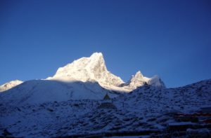 Amazing peak on the Route from Lukla to Everest Base Camp Nepal