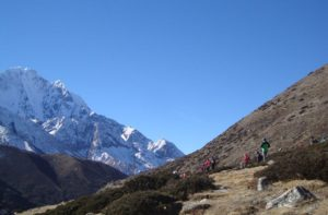 Tengboche to Everest base camp trek Nepal