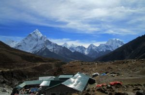 Weather, elevation & hotel in Thukla pass on Everest base camp trek Nepal