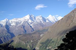 tree line in Mount Everest region