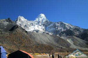 Ama dablam base camp trekking in Nepal with nearby package to explore Khumbu region in the Himalayas