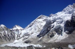 Mount Everest view from Everest base camp south Nepal