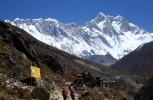 Mount Everest view from Pangboche