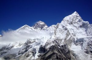 Mount Everest view from Kala Patthar Nepal afternoon