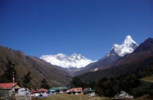 Mount Everest view from Tengboche