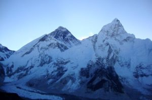 Mount Everest from Kala Patthar in the morning