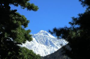 Amazing photo of top of Mount Everest during Jiri to Everest base camp trip