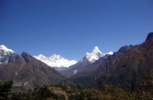 Mount Everest view from hotel Everest view Khumjung, Everest region, Nepal