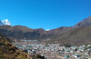 Picture during Khunde to Khumjung village trek in Khumbu area Nepal