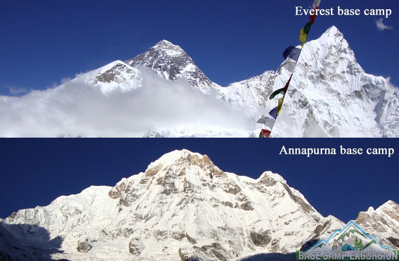 Everest base camp vs Annapurna base camp Nepal which recommended