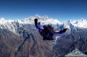 Everest skydive highest skydiving in the world jump over Mt Everest