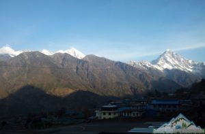 Flight delays to and from Lukla for Everest base camp trek Nepal